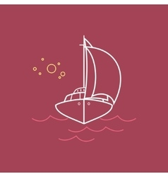 Yacht Line Style Design vector image