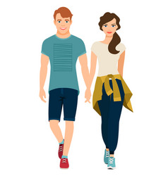 young couple in sport style outfit vector image