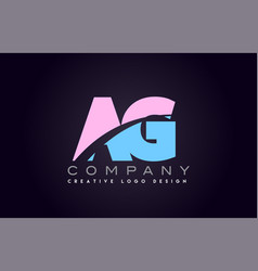 ag alphabet letter join joined letter logo design vector image