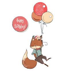 cute cartoon flying fox vector image