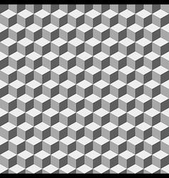 Grey Geometric Volume Seamless Pattern Background vector image vector image