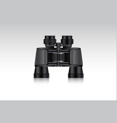 realistic binoculars for hunter and traveler vector image vector image
