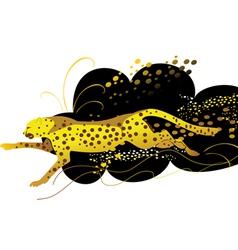 Running cheetah vector image