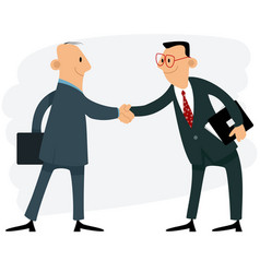 two businessmen handshake vector image