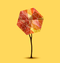 abstract tree geometric design vector image vector image
