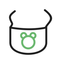 Baby Bib vector image