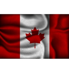 crumpled flag of Canada on a light background vector image vector image