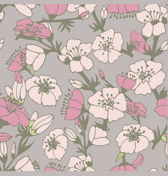 cute flower seamless pattern vector image vector image
