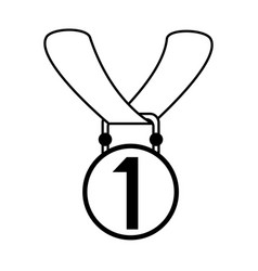 First place medal prize or award icon image vector