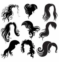 set of hair styling vector image
