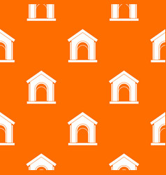 toy house pattern seamless vector image vector image