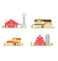 flat icon suburban american house vector image vector image