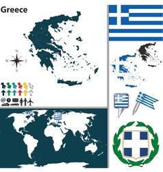 Greece map vector image