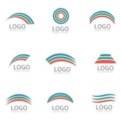 Rainbow logo template vector image vector image