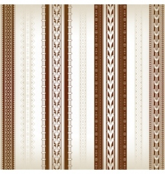set of ornamental borders vector image vector image