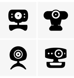 Web cameras vector image vector image