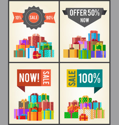 10 to 90 sale best half price offer shop now boxes vector