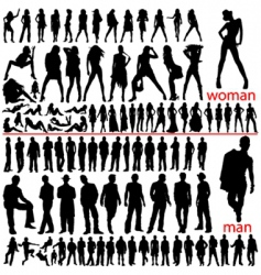 100 fashion people vector image