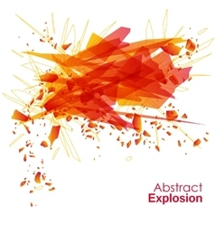 Abstract explosion geometric background vector image vector image