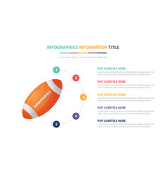 American football rugby infographic template vector