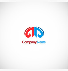 architecture abstract company logo vector image