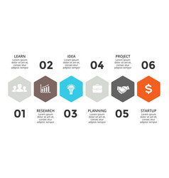 arrows timeline infographic diagram chart vector image