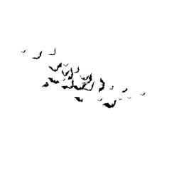 Bats - halloween design horror background for vector