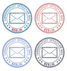 Berlin round postmarks for envelope vector