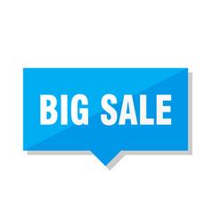 Big sale price tag vector
