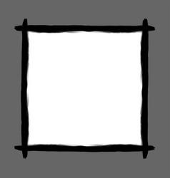black frame art line watercolor style for banner vector image