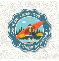 Canoe and kayak club badge concept vector