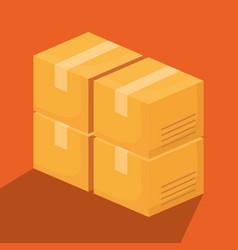 Carton boxes design vector