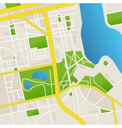 Cbstract city map and river vector