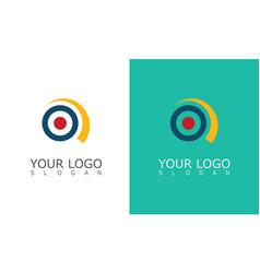 circle focus logo vector image