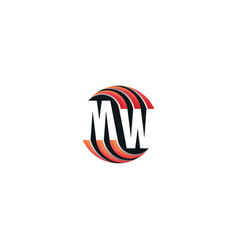 circle mw logo vector image