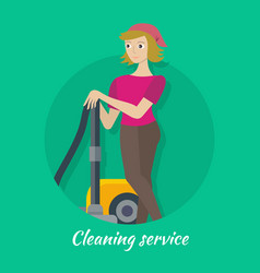 cleaning service concept in flat design vector image