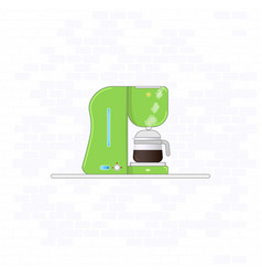 coffee maker machine standing on shelf modern flat vector image