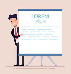 concept seminar training workshop manager or vector image