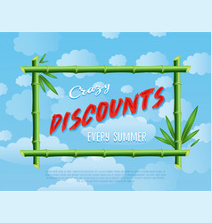 Crazy discounts every summer poster vector