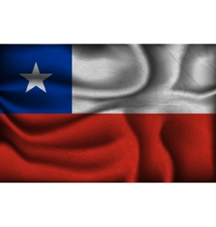 crumpled flag of Chile on a light background vector image
