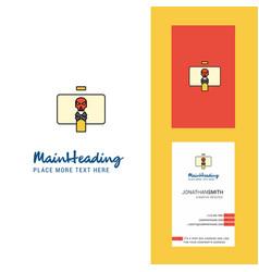 Danger board creative logo and business card vector