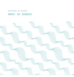 diagonal abstract waves horizontal frame seamless vector image