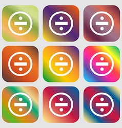Dividing icon sign Nine buttons with bright vector