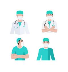 Doctor medical team vector