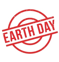 Earth Day rubber stamp vector image
