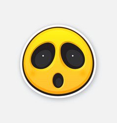 Emoticon for expressing emotion surprise vector