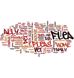 flea control with cats and dogs text background vector image