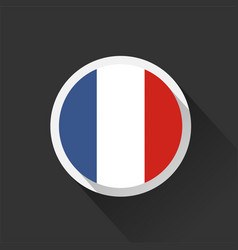 france national flag on dark background vector image