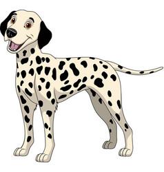 Funny purebred dalmatian vector
