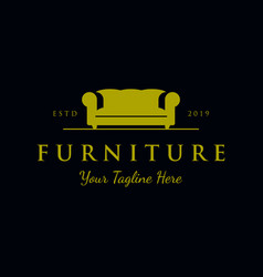 furniture sofa logo designs luxury universal vector image
